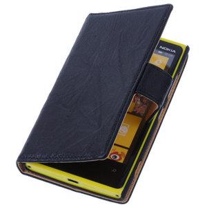 BestCases Zwart Nokia Lumia 1320 Stand Luxe Echt Lederen Book Wallet Hoesje