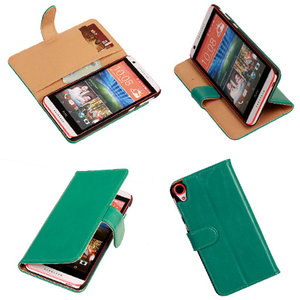 PU Leder Groen HTC Desire 820 Book/Wallet Case/Cover