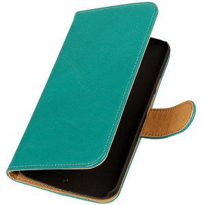 PU Leder Groen Hoesje voor HTC Desire Eye Book/Wallet Case/Cover