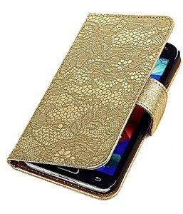 Bloem Lace Hoesje Samsung Galaxy S5 Mini Goud Kopen