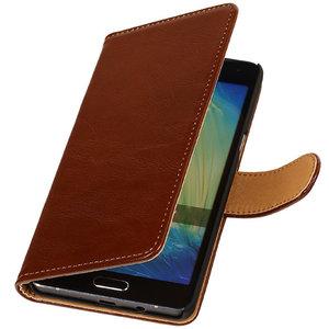 PU Leder Bruin Samsung Galaxy S Duos 3 Book/Wallet Case