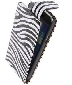 Zebra Classic Flip case voor Hoesje voor Nokia Lumia 720