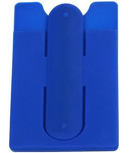 Donker Blauw TPU pashouder / kaarthouder met stand functie