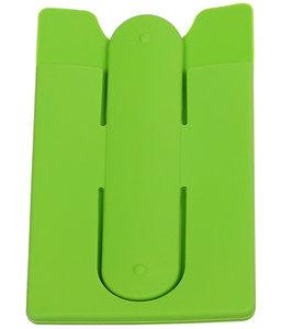 Groen TPU pashouder / kaarthouder met stand functie