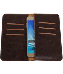 Mocca Pull-up Large Pu portemonnee wallet voor Samsung