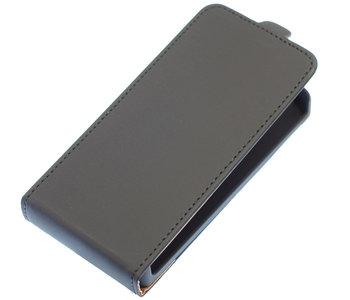 Zwart Effen Flip case hoesje voor Samsung Galaxy S5