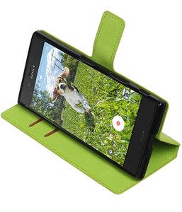 Groen Sony Xperia XZ TPU wallet case booktype hoesje HM Book