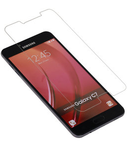Samsung Galaxy C7 Premium Tempered Glass - Glazen Screen Protector