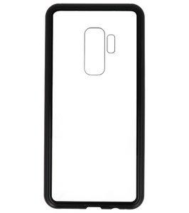 Zwart Transparant Magnetisch Back Cover Hoesje voor Samsung Galaxy S9 Plus