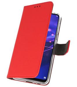 Wallet Cases Hoesje voor Huawei Mate 20 Rood