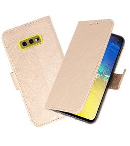 Bookstyle Wallet Cases Hoesje voor Samsung Galaxy S10e Goud