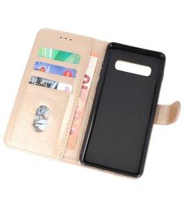 Bookstyle Wallet Cases Hoesje voor Samsung Galaxy S10 Plus Goud