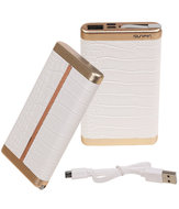 Wit Krokodil SunPin Powerbank 6000 mAh iPhone/iPad Oplader